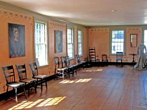 Farrur-Mansur House Ballroom, at the Farrur-Mansur Museum in Weston, Vermont