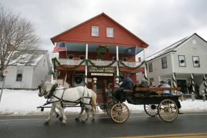 Enjoy a horse drawn wagon ride through our Village