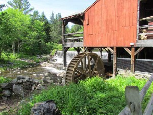 Weston Old Mill and Dam Museum Weston, Vermont in Summer